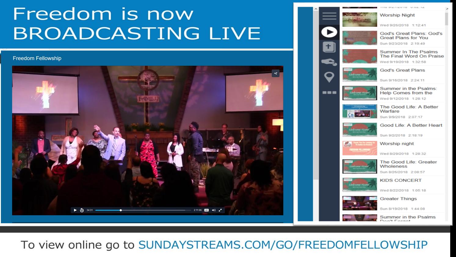 Freedom Webcast